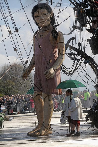 image of the giant marionettes in Liverpool show
