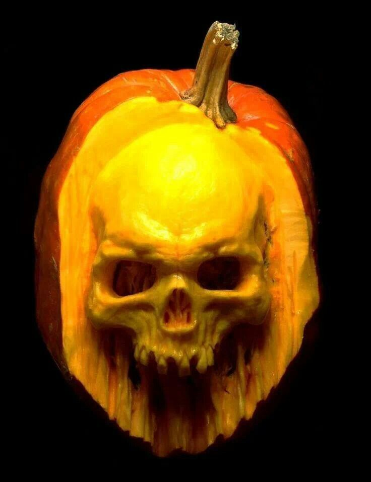 Pumpkin carving skull bing images