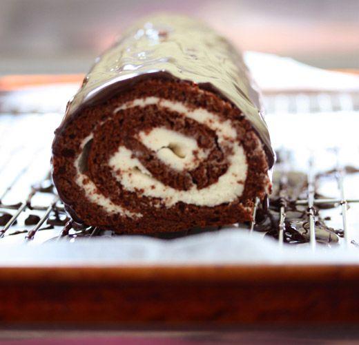 Chocolate-Rum Swiss Roll Recipe — Dishmaps