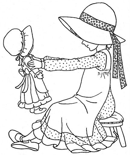 coloring pages of hollyhobbie - photo#6