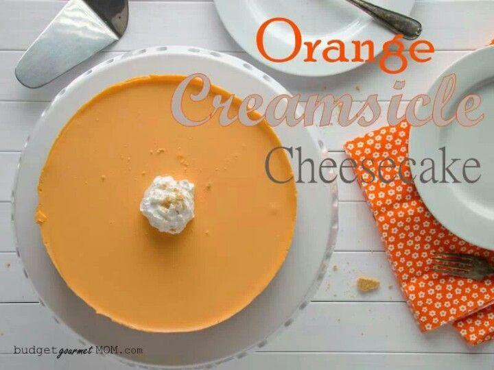 Orange creamsicle cheese cake   recipes   Pinterest