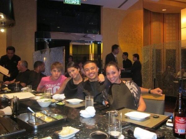 Justin Bieber, Selena Gomez, Alfredo Flores and Carin Morris. ll # ...