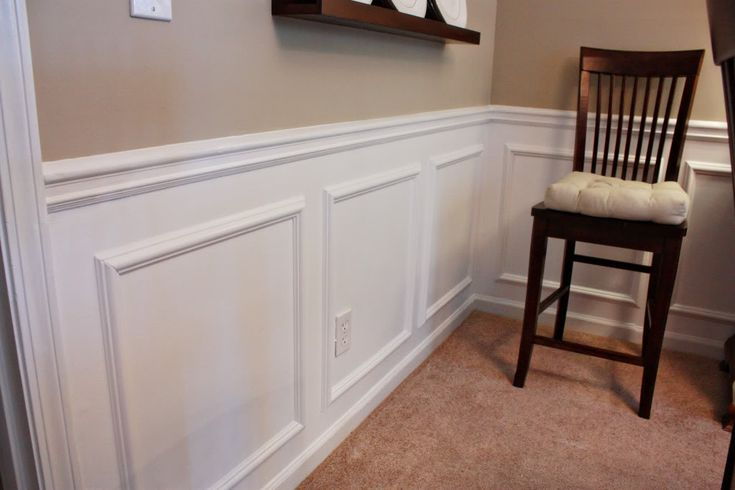 How to add picture moulding to walls diy home decor for Dining room paneling