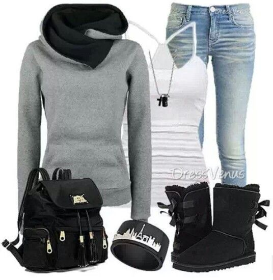 Comfy Winter Outfit with Uggs | Clothes&Hair | Pinterest