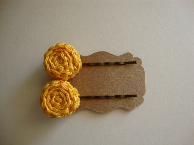Crochet Hair Using Bobby Pin : Crochet Bobby Pin Set Hair pins by TailorMade27 on Etsy