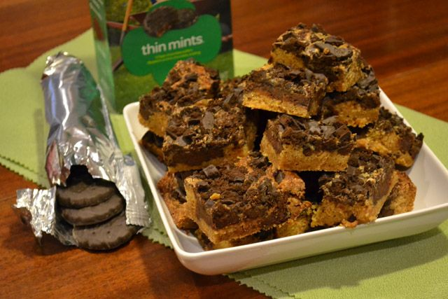 Girl Scout Cookie Thin Mint Gooey Cake Bars Recipe — Dishmaps