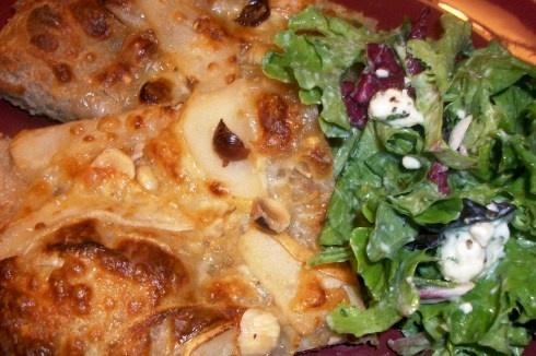 Interesting pizza idea - Gorgonzola cheese and pears