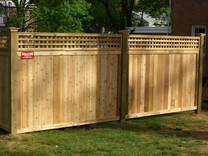 square trellis topped fence for the home pinterest