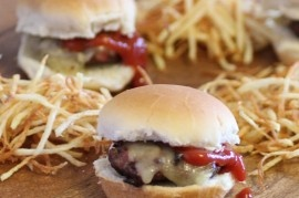 Mushroom And Swiss Sliders With Spicy Fry Sauce Recipe — Dishmaps
