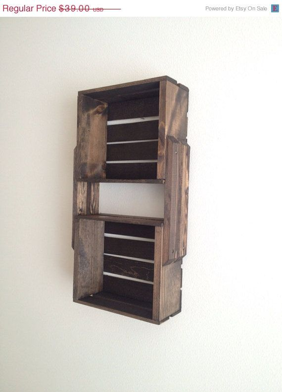 New Wine Crate Shelves I39m Not Big On The Brackets But Great Way To Use