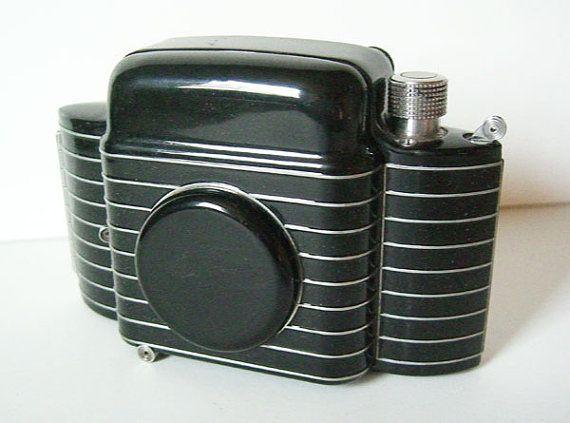 Vintage 1930s Deco Bantam Special Kodak Black and Chrome Camera