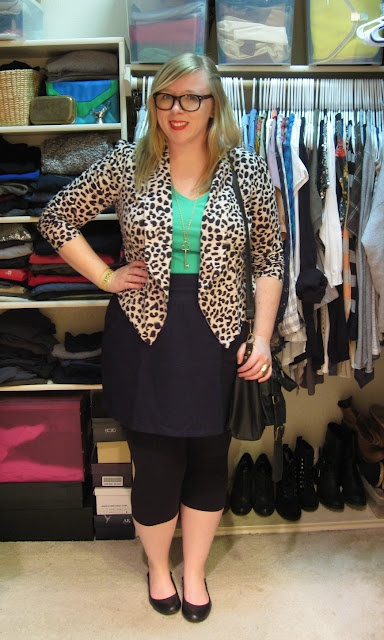 I need this leopard print blazer. Also love the pairing with mint green.