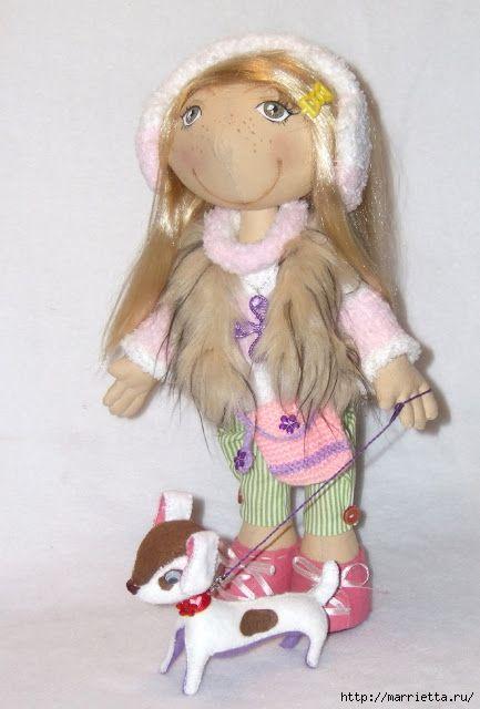 Мастер класс по пошиву текстильной куклы с выкройками