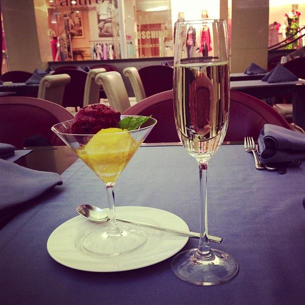 champagne + sorbet | Pour It Up! | Pinterest
