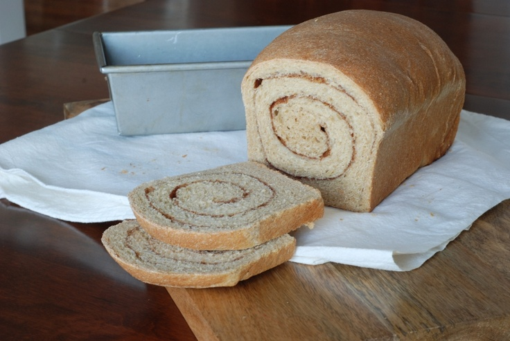 Whole wheat cinnamon swirl bread | Baking & Cooking | Pinterest