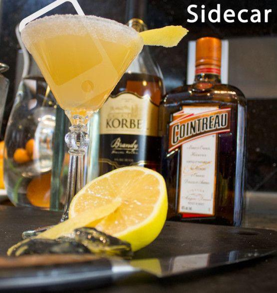 Sidecar Cocktail | voulez-vous boire un verre | Pinterest