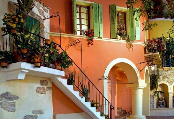 Mediterranean house mediterranean house design pinterest for Escaleras exteriores para casas de dos pisos