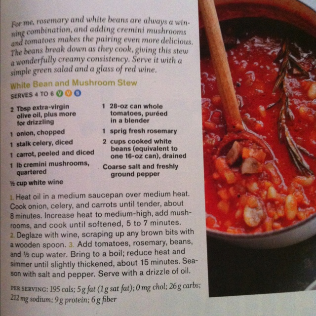 White bean and mushroom stew | Easy recipes | Pinterest