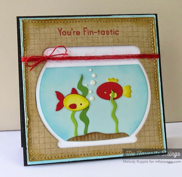 Grid Background, You're Fin-tastic, Fishbowl Die-namics - Melody Rupple #mftstamps