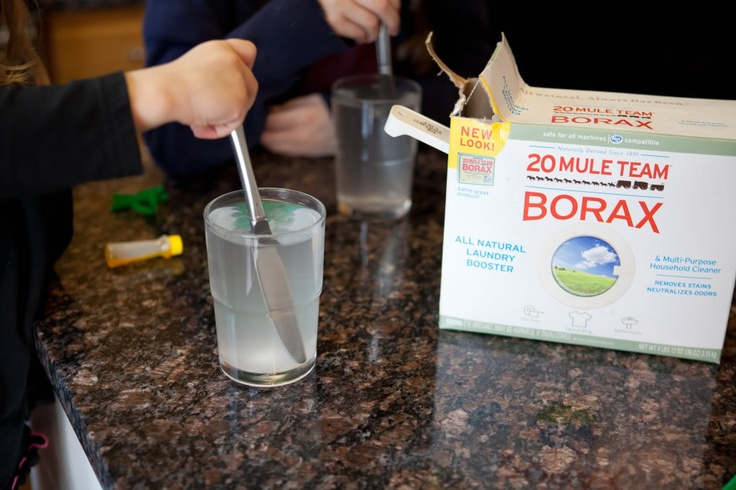 how to make borax crystals without pipe cleaners