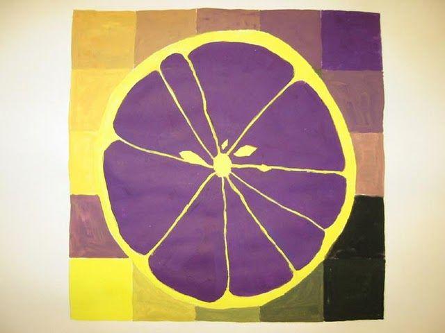 Fruit slice w complementary colors art element color - What color complements purple ...