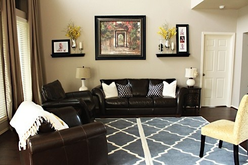 Color Scheme For Brown Leather Couch Home Ideas Pinterest