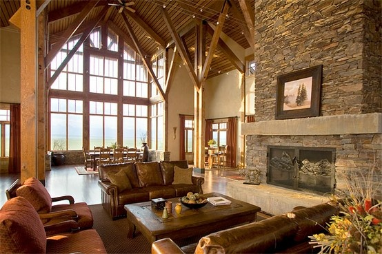 Lodge style great room