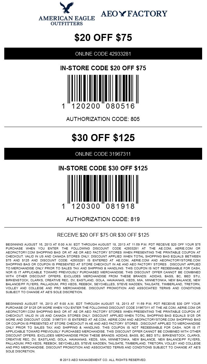 American eagle coupon code 2019