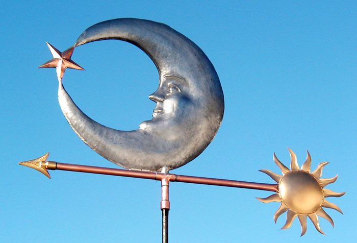 Sun, Moon and Star Weathervane