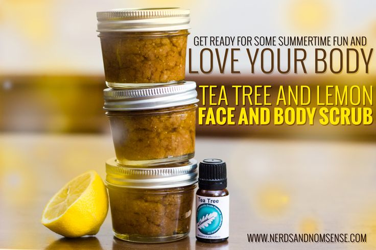 DIY Tea Tree and Lemon Face and Body Scrub from Nerds and Nonsense