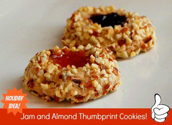 Jam Almond Thumbprint Cookies | Winter | Pinterest
