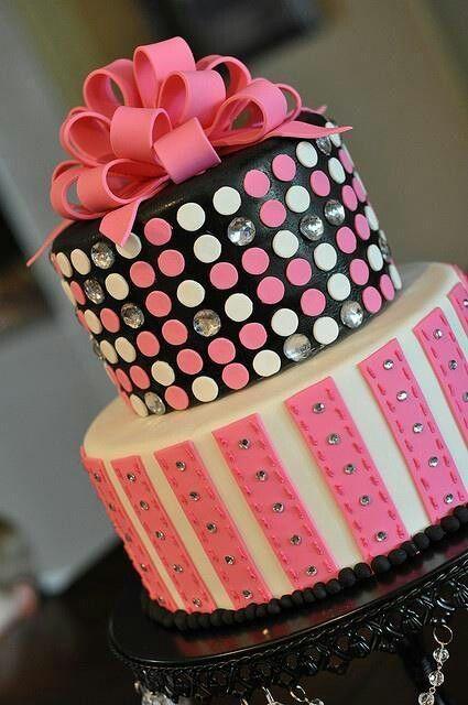pink bling cake