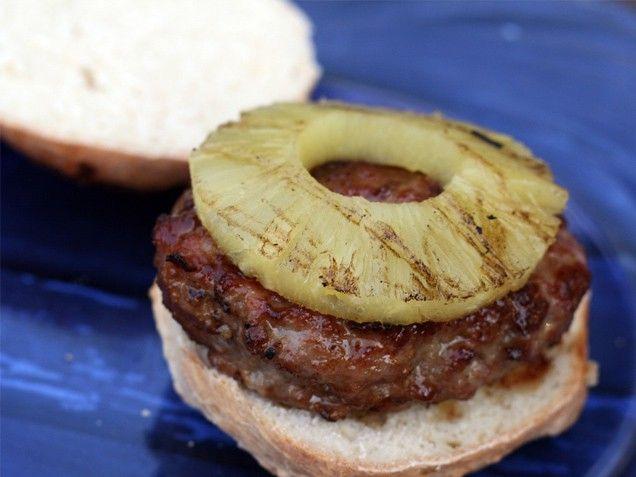 Hawaiian-Style Pork Burgers - Pork, ginger, garlic and soy make this a ...