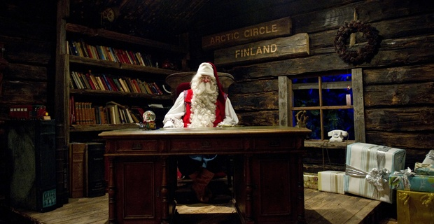 sitting at his desk | santas make me go hohoho!! | Pinterest