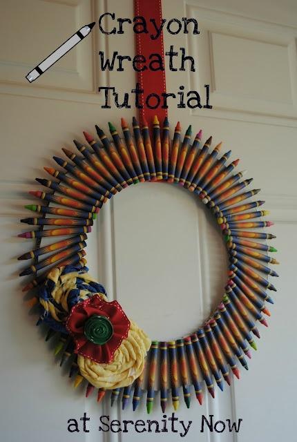 crayon wreaths for teachers tutorial | just b.CAUSE