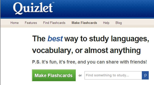 quizlet study flashcards languages vocab more