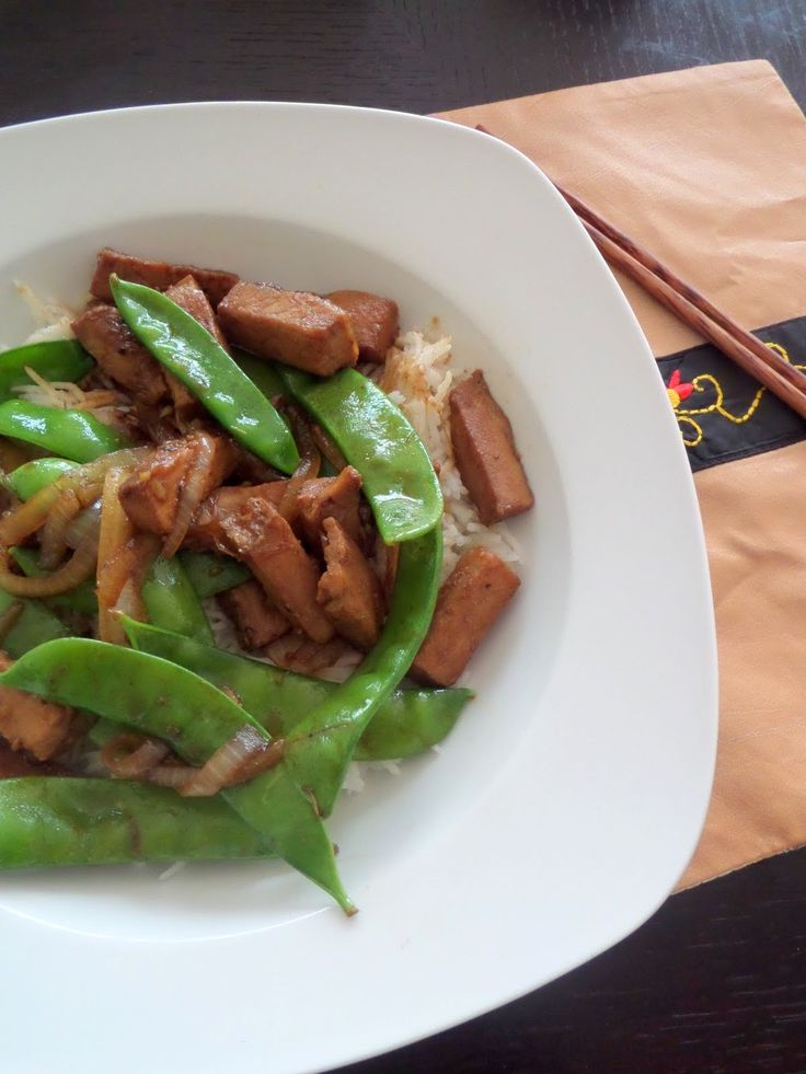 Pork and Peas Stir Fry: A sweet and spicy stir fry made with leftover ...