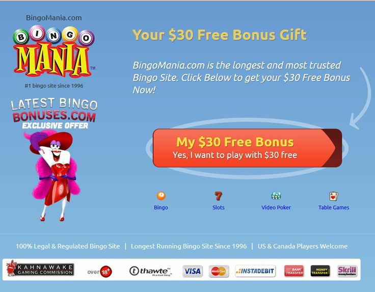 free bingo online with bonus no log in