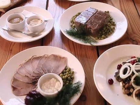 Russian food starters