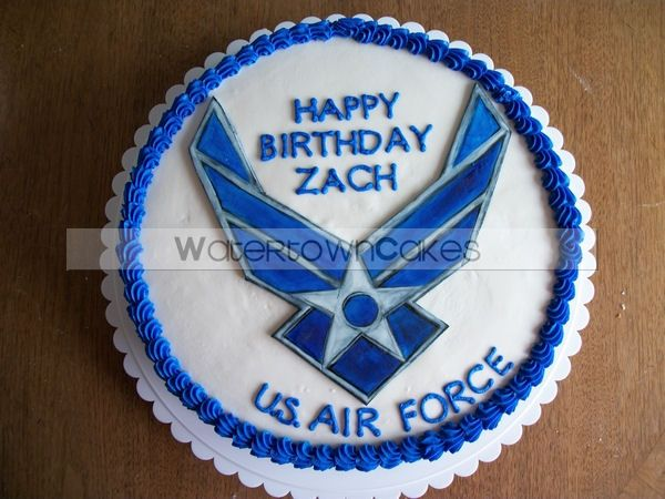Us air force military cakes pinterest for Air force cakes decoration