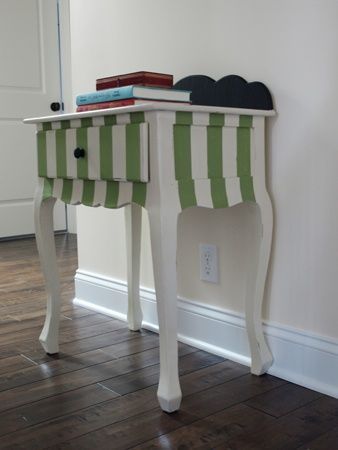 Painting stripes on furniture painted furniture pinterest - Painting stripes on furniture ...