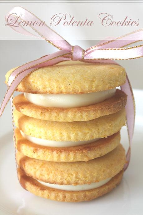 Lemon Polenta sandwich cookies | Cookies | Pinterest