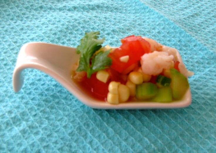 Shrimp ceviche canape food seafood and fish pinterest for Shrimp canape ideas