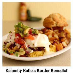 Kalamity Katie's border benedict @- eggs is to die for... ALL of their ...