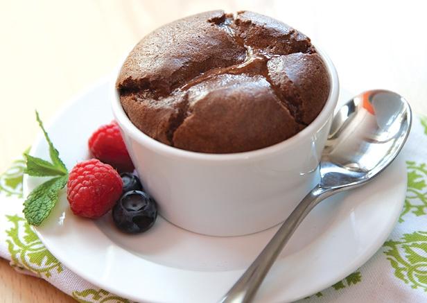 Mini Chocolate Souffles | CLEAN recipes | Pinterest