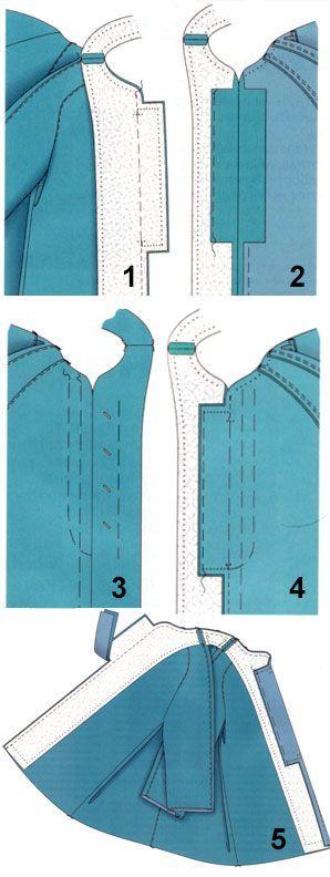Сшить застежки на пуговицах 508