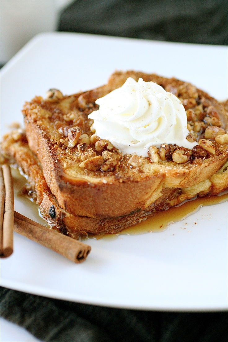 Baked eggnog french toast | Christmas | Pinterest
