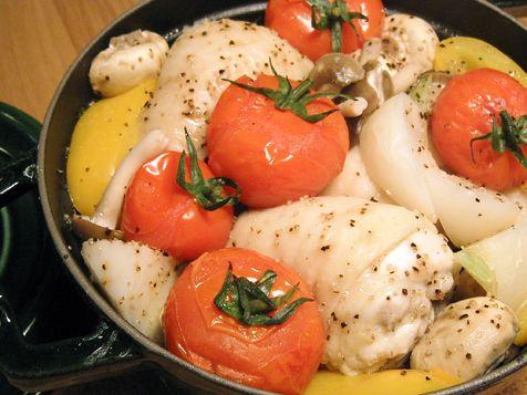野菜と鶏の蒸し煮