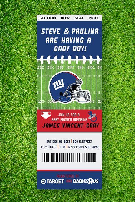 football baby shower invitation by thegoldenserif baby shower