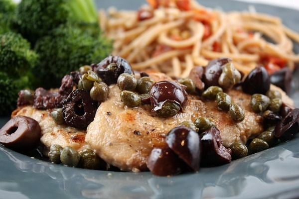 Pork Medallions with Olive-Caper Sauce. Capers always remind me of ...